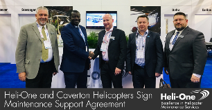 Heli-One and Caverton Helicopters Sign Support Agreement