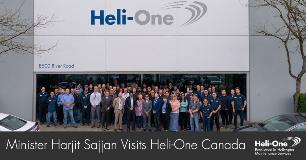 Minister Sajjan Visits Heli-One Canada