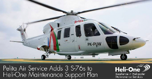 Pelita Air Services adds 3 S-76 aircraft to support plan