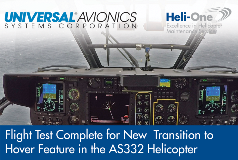 Flight Test Complete for New  Transition to Hover Feature in the AS332 Helicopter