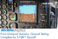 Ground Testing Complete for S-76BTM Aircraft with Heli-One Universal Avionics Upgrade