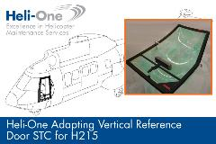 Heli-One Adapting Vertical Reference Door STC for H215