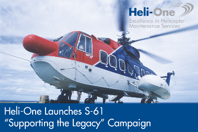 Heli-One Announces S-61 Supporting the Legacy Campaign
