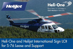 Heli-One Helijet Sign LOI S-76