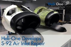 Heli-One Develops Sikorsky S-92 Air Inlet Repair