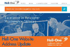 Heli-One Updates Website Address