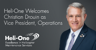 Heli-One Welcomes Christian Drouin as Vice President of Operations