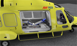 AW169 Stretcher Rendering