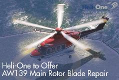 Heli-One to Offer AW139 Main Rotor Blade Repair
