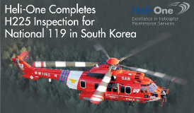 Heli-One Completes H225 Inspection for National 119