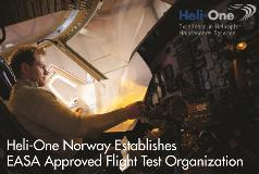 Heli-One Norway Establishes Flight Test Organization