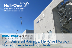 Heli-One Norway Named International Top Dealer by Universal Avionics