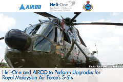 AIROD and Heli-One To Upgrade RMAF S-61s