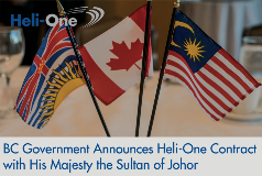 BC Government Announces Heli-One Contract with His Majesty the Sultan of Johor