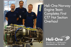 Heli-One Norway Completes first CT7 Hot Section Replacement